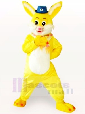 Yellow Rabbit Adult Mascot Costumes Cartoon