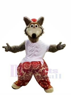 Funny Sport Wolf Mascot Costumes Cartoon