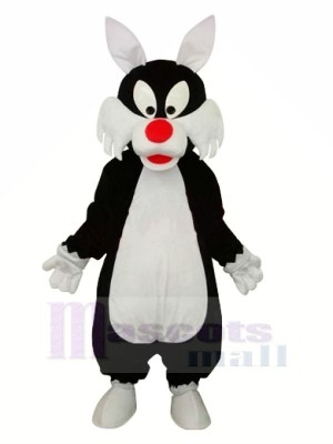 Funny Wolf with Red Nose Mascot Costumes Cartoon
