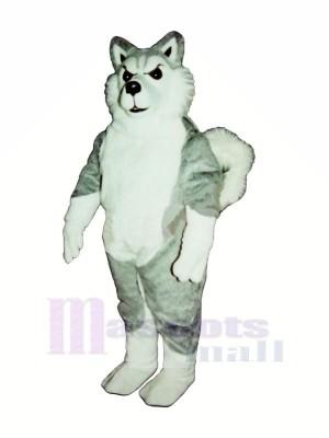 White and Grey Wolf Mascot Costumes Cartoon