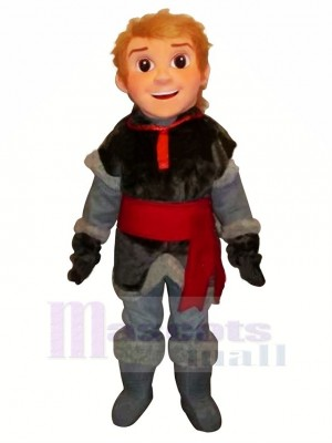 Frozen Kristoff Mascot Costume Cartoon