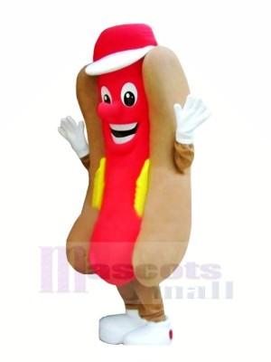 Delicious Fast Food Hot Dog Mascot Costume Cartoon