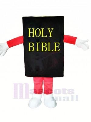 Black Bible Mascot Costume Cartoon
