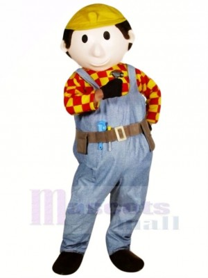 Cute Builder Buddy Mascot Costume People