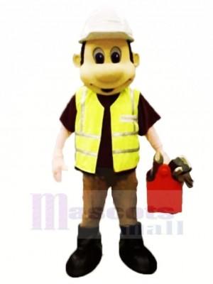 Hard-working Builder Mascot Costume People
