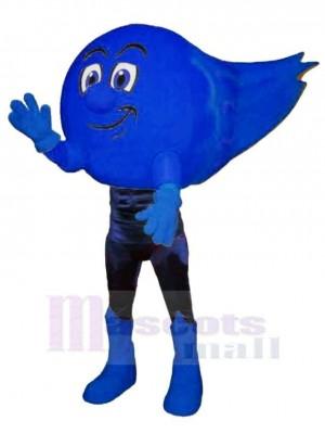 Blue Comet Mascot Costume Cartoon