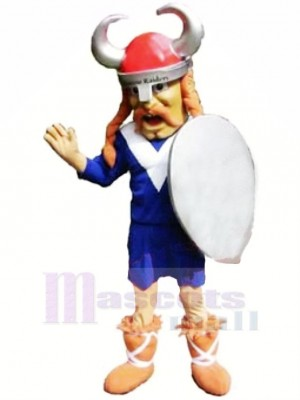 Cool Viking Mascot Costume Cartoon