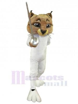 Cool Fencer Cat Mascot Costume Animal
