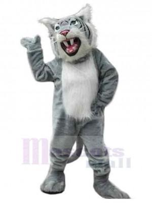 Fierce Wildcat Mascot Costume Animal with Sharp Teeth
