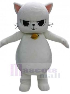 Fierce White Cat Mascot Costume Animal