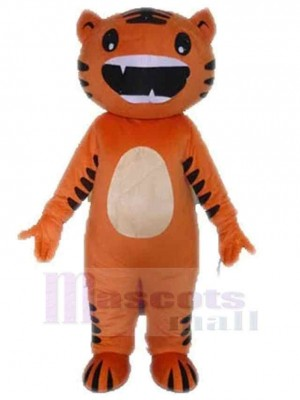 Funny Orange And Black Cat Mascot Costume Animal
