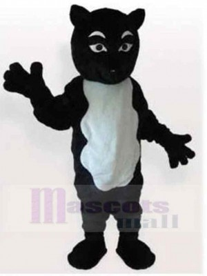 Funny Black and White Cat Suit Mascot Costume Animal