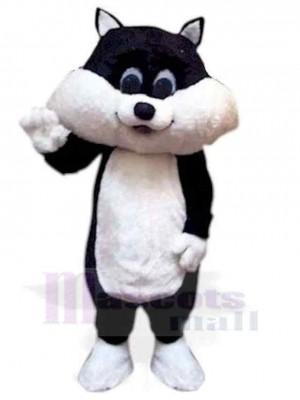 Lovely Black and White Kitten Cat Mascot Costume Animal