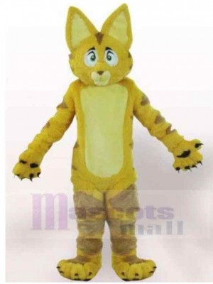 Big Ears Yellow Fur Cat Mascot Costume Animal