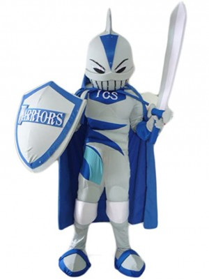 Well-equipped Shark Knight Mascot Costume People