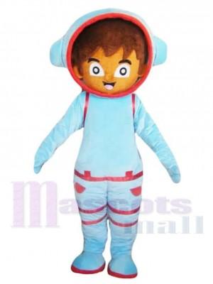 Brown Astronaut Boy Cosmonaut Mascot Costume People