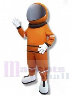 Astronaut Mascot Costume in Orange Space Suit People