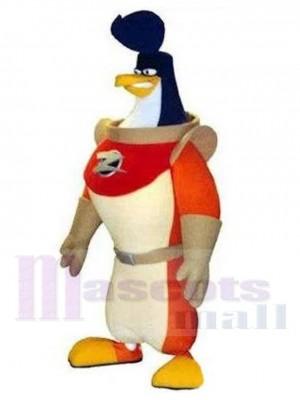Fierce Astronaut Penguin Cosmonaut Mascot Costume Animal