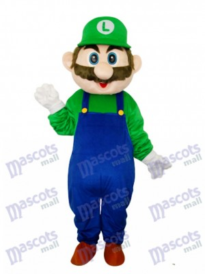 Green Mario Mascot Adult Costume Cartoon Anime