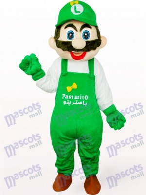 Green Luigi Poland Captain Mario Anime Adult Mascot Costume