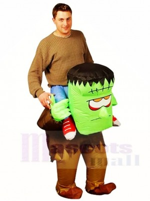 Frankenstein Carry me Ride on Monster Inflatable Halloween Xmas Costumes for Adults