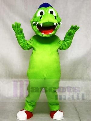 Cute Blue Hat Green Crocodile Alligator Mascot Costumes