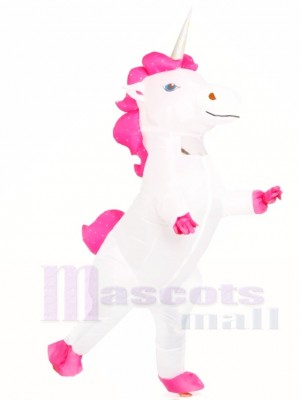 White Unicorn Inflatable Halloween Christmas Costumes for Adults