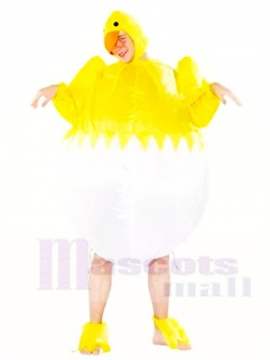 Yellow Chicken Egg Inflatable Halloween Christmas Costumes for Adults