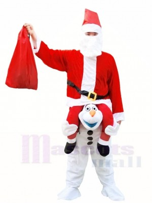 Santa Claus Carry me Ride on Olaf Halloween Xmas Costumes for Adults