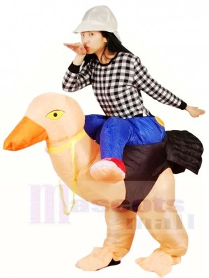 Ride on Ostrich Inflatable Halloween Xmas Costumes for Adults