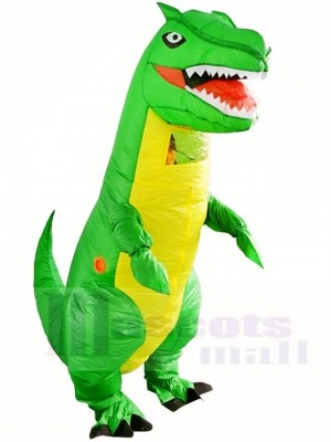 Green Tyrannosaurus T-REX Dinosaur Inflatable Halloween Christmas Costumes for Adults