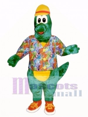 Al Gator with Hat, Shirt & Tennis Shoes Mascot Costume