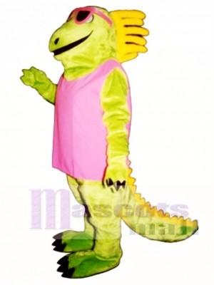 Irma Iguana with Dress & Sunglasses Mascot Costume Animal