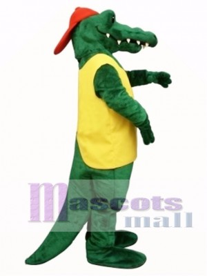 Tuff Gator with Shirt & Hat Mascot Costume