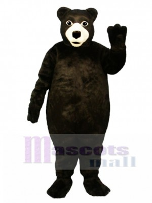 Fat Brown Bear Mascot Costume Animal