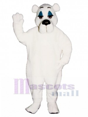 Comic Polar Bear Christmas Mascot Costume Animal