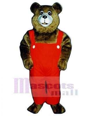 New Tommy Teddy Bear with Overalls Mascot Costume Animal
