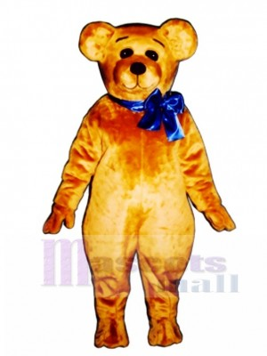 Cute Teddy with Bow Christmas Mascot Costume Animal