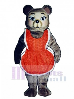 New Thelma Bear with Dress Mascot Costume Animal