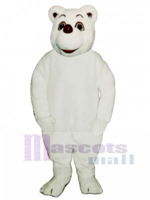 Baby Polar Bear Mascot Costume Animal