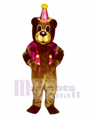 New Birthday Bear with Vest & Hat Mascot Costume Animal