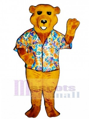 New Barry Bear with Shirt Mascot Costume Animal