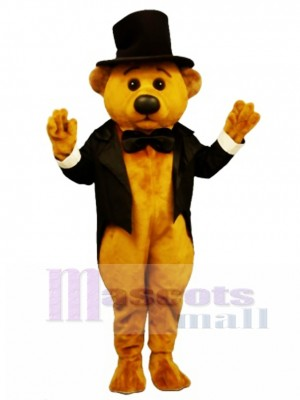 New Sophisticated Bear with Tailcoat & Hat Mascot Costume Animal