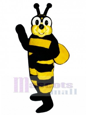 Yellow Bee with Jacket Mascot Costume Insect