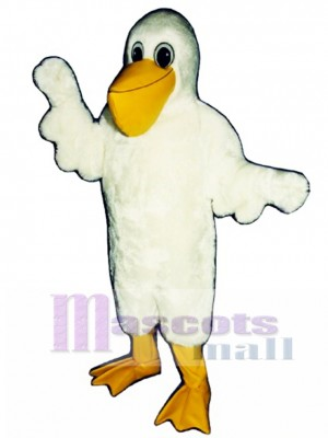 Cute Cartoon Pelican Bird Mascot Costume Bird