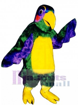Cute Colorful Parrot Mascot Costume Bird