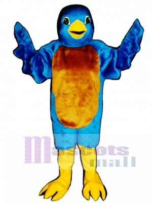 Cute Blue Bird Mascot Costume Bird