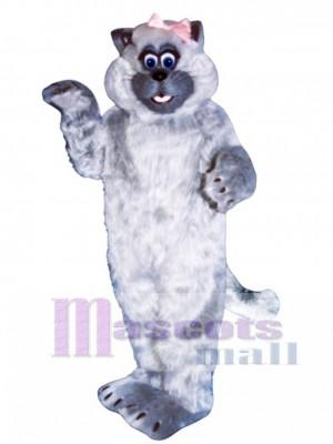 Cute Tabitha Cat Mascot Costume Animal