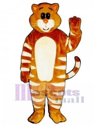 Cute Stripe Cat Mascot Costume