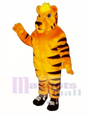Cute Tiger with Sneakers Mascot Costume Animal